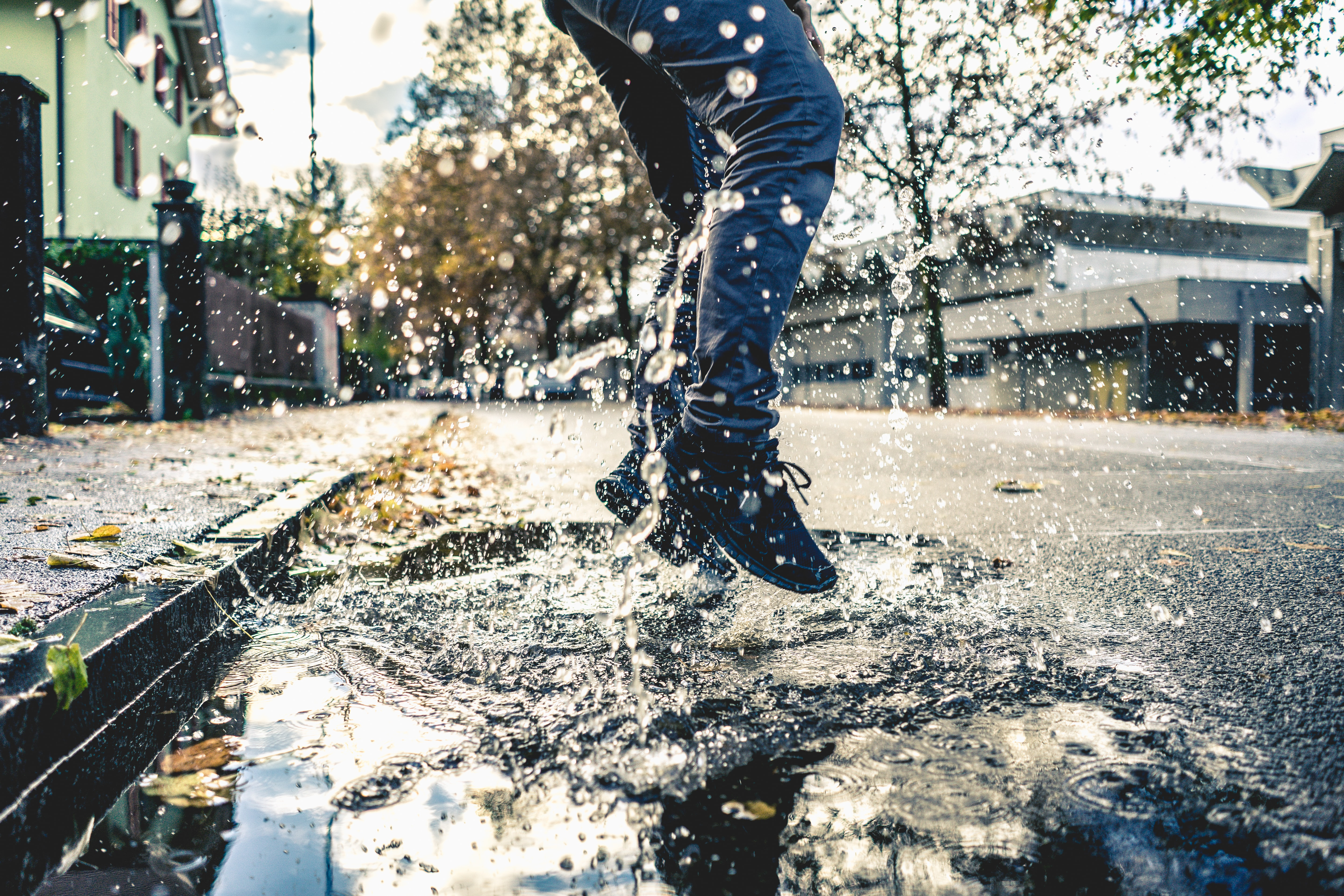 jumping in a puddle